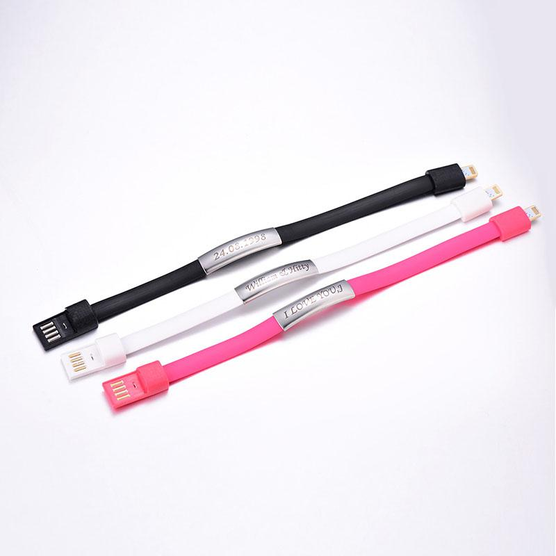 Pink USB Charging Cable Bracelet for iPhone