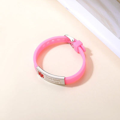 Personalized Silica Gel Medical Road ID Bracelet Gifts For Father
