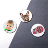 Personalized Round Photo Fridge Magnet To Decorate House & Office