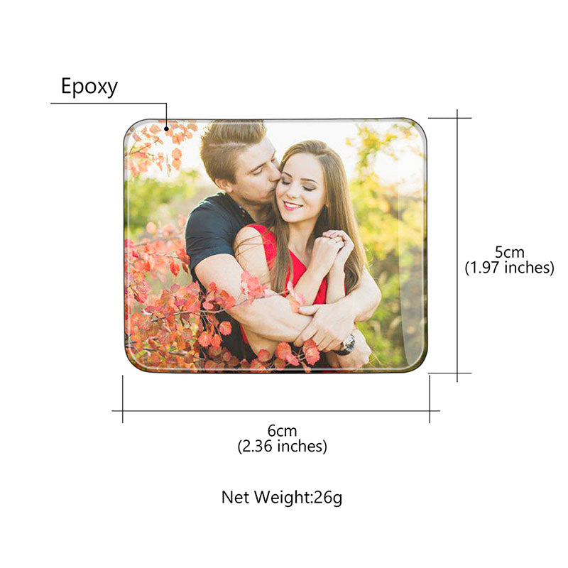 Personalized Square Photo Fridge Magnet For Whiteboard & Refrigerator