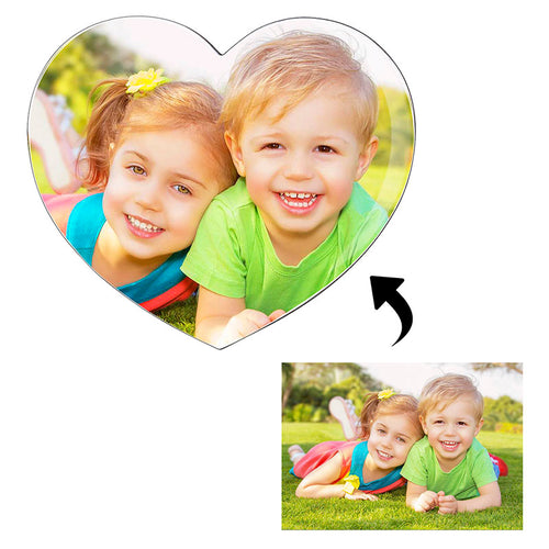 Custom4ufashion Personalized Heart Photo Fridge Magnet Housewarming Gift