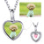 Cubic Zirconia Heart Photo Charm Necklace Personalised Gifts For Her