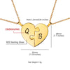 925 Sterling Silver Two Puzzle Heart Necklaces For Couple Jewelry Gifts