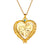 Engraved Portrait Heart Necklace Memorial Photo Jewelry With Birthstone