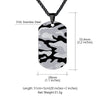 Engraving Camouflage Army Tag Necklace