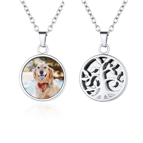 Custom Photo Urn Necklace for Ashes Fmaily Tree Cremation Jewelry