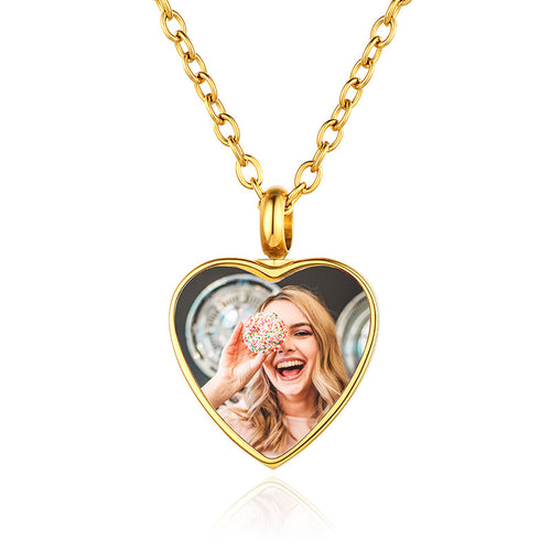 Custom4U Personalized Photo Cremation Urn Necklace for Ashes for Women