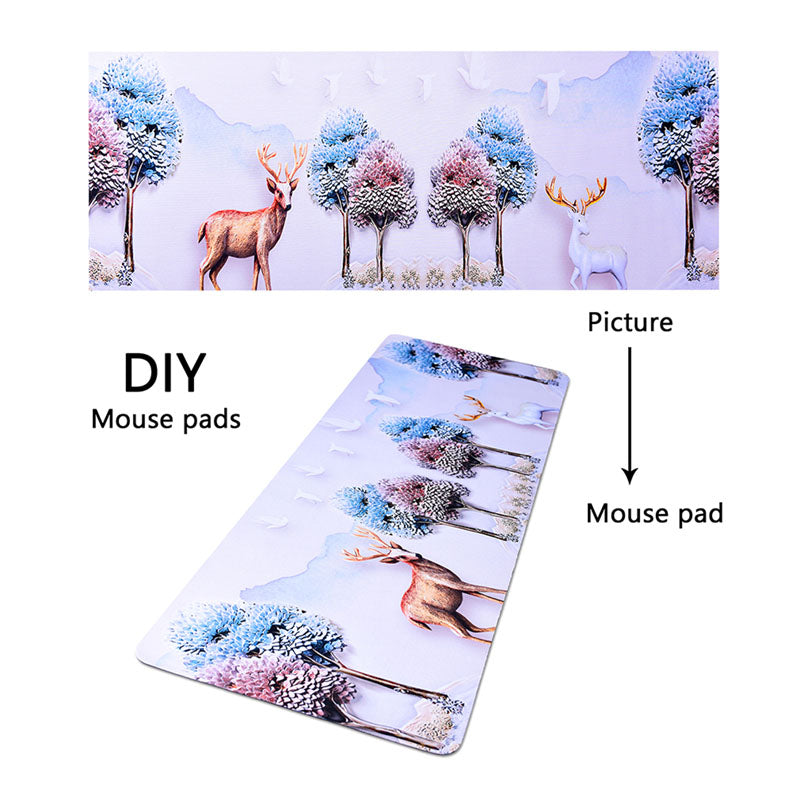 PUGB Personalized Mouse Pad Custom Photo Practical Gifts 80CM*30CM