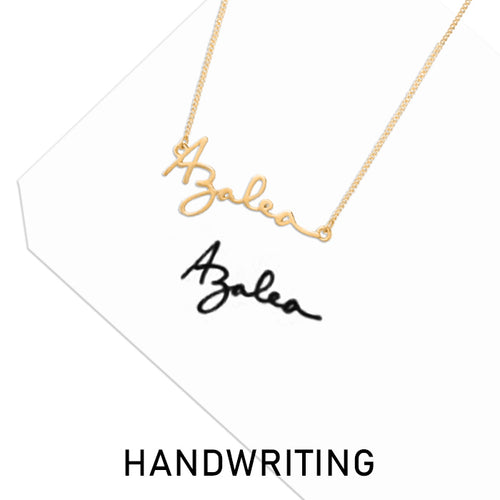 Custom Handwriting Signature Necklace, Name Jewerly Gifts For Her