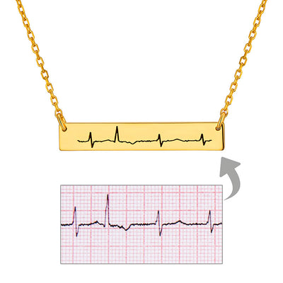 Unique Custom Engraving EKG Heartbeat Soundwave Necklace Gifts Idea