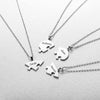 Silver Heart Puzzle Necklace for BFF