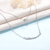 Silver Double Layer Custom Name Necklace
