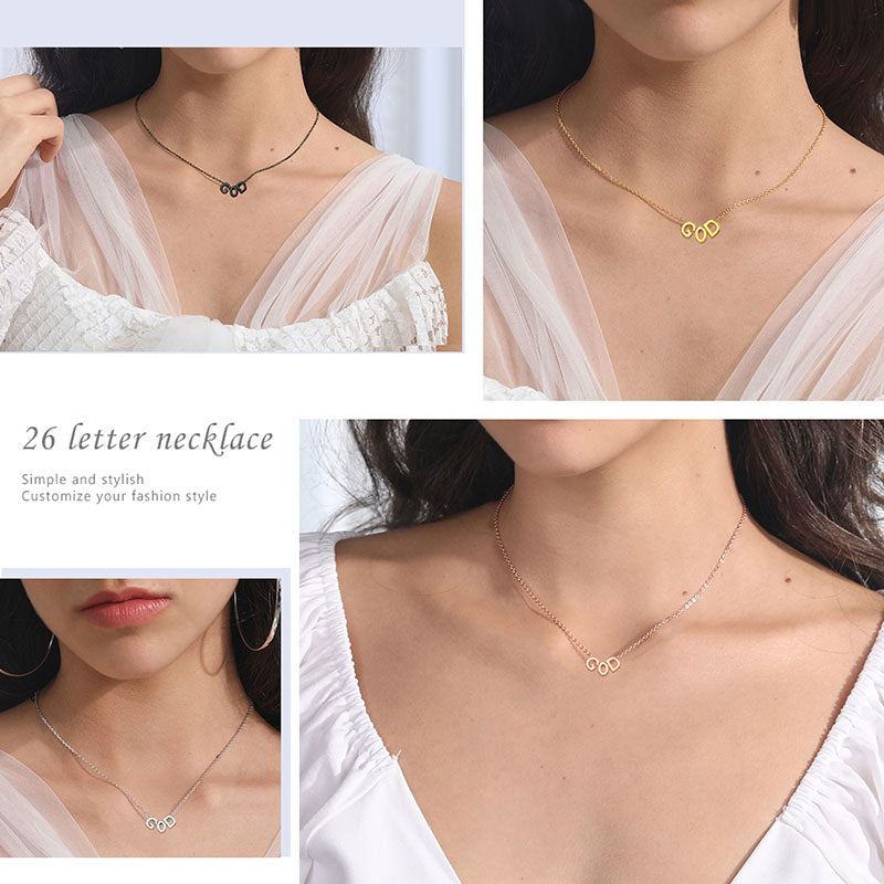 Personalized Name Choker Gold Minimalist Letters Necklace For Women