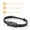 Personalized Black Micro USB Charging Cable Bracelet