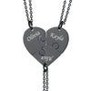 Cusotom4u Forever and Ever 3 Heart Puzzle Necklace Best Friend Gift