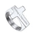 Custom4u Flat Top Sideways Cross Band Ring Christian Jewelry For Men