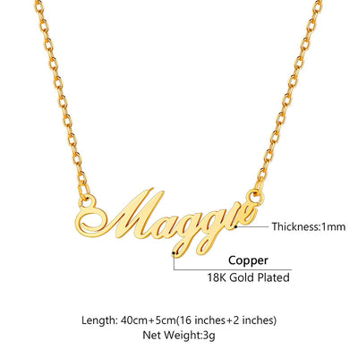 Custom4u Gold Plated Name Choker Necklace Personalized Gifts For Women