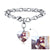 Custom4u Personalized Photo Engraving Heart Charm Chain Bracelet