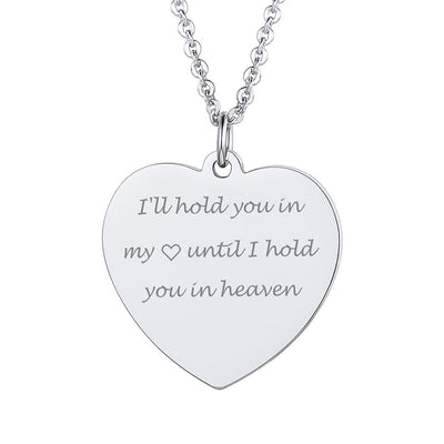 Custom4u Stainless Steel Personalized Engraving Heart Engraving Tag