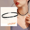 Custom4u Women Personalized Letter Charm Name Leather Choker Necklace