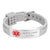 Custom4u Wrist Road ID Bracelet Engraved Medical Alert Rubber Bracelet