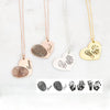 Heart Engraved Actual Fingerprint Necklace Memorial Gifts For Loved One
