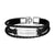 Leather Multi Strand Bracelet Engraving Personalized Gifts For Men