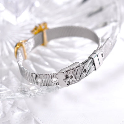 Engraving Reflections Birthstone Infinity Bracelet