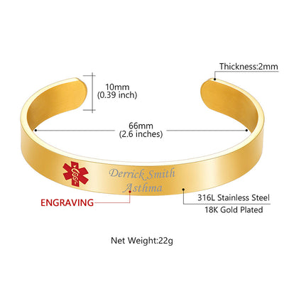stainless-steel-personalized-medical-id-bracelet-alert-cuff-bangle