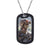 Stainless Steel Personalized Photo Army Dog Tag Engraving ID Necklace
