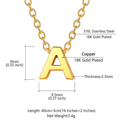 Tiny Personalized Initial Choker Minimal Gold Letter Alphabet Necklace