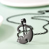 Yin Yang Two Cats Necklaces Personalized Engraving Couple Jewelry