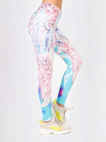 Regular Leggings (8-12 UK Size) - Tye Dye Mandala - Kukubird_UK
