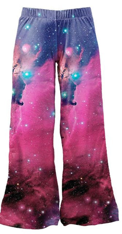 Galaxy Fuchsia - Kukubird_uk Leggings, Tights