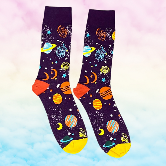 Purple Space Socks - Kukubird_UK