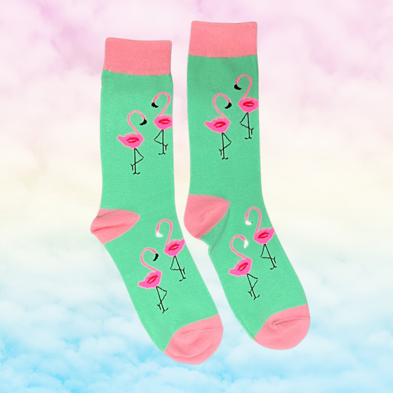 Flamingo Socks - Kukubird_UK