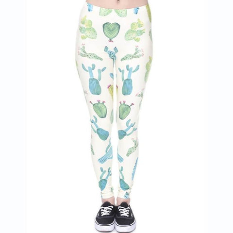 Cactus Yellow - Kukubird_uk Leggings, Tights