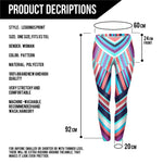 Geometric Stripes Blue - Kukubird_uk Leggings, Tights