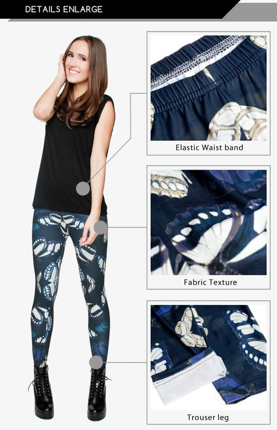 Regular Leggings (8-12 UK Size) - Butterfly - Kukubird_UK