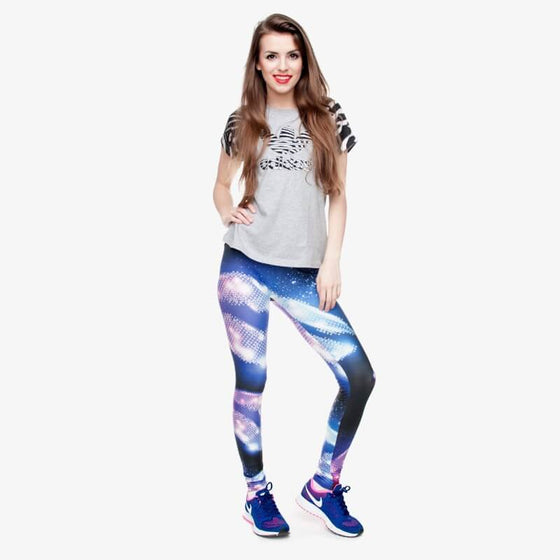 Regular Leggings (8-12 UK Size) - Disco - Kukubird_UK