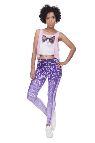 Bandana Deco Purple - Kukubird_uk Leggings, Tights