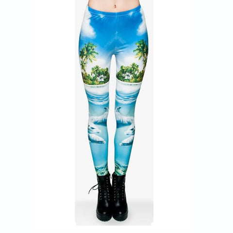 Dolphins - Kukubird_uk Leggings, Tights