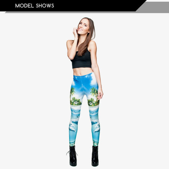 Regular Leggings (8-12 UK Size) - Dolphins - Kukubird_UK