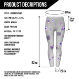 PINK AND PURPLE PATCHES - Kukubird_uk Leggings, Tights