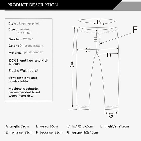 Regular Leggings (8-12 UK Size) - Color Cube - Kukubird_UK