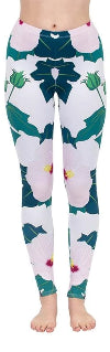 Regular Leggings (8-12 UK Size) - Sweet Hibiscus - Kukubird_uk Leggings, Tights
