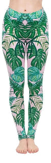 Regular Leggings (8-12 UK Size) - Watercolour Palms - Kukubird_UK