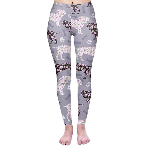 Flowery Dachshunds - Kukubird_uk Leggings, Tights