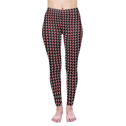 Blood Houndstooth - Kukubird_uk Leggings, Tights