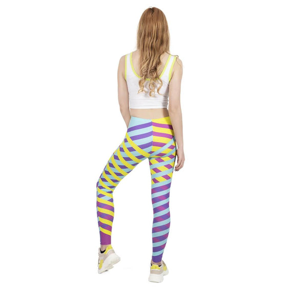 Regular Leggings (8-12 UK Size) - Cross Lines - Kukubird_UK